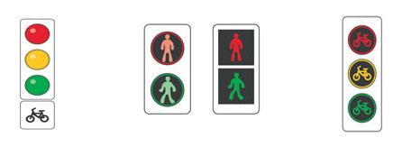 Сигналы светофора для велосипедистов